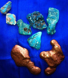 Turquoise and Copper crystals